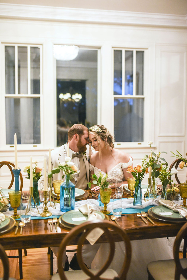 Charming Carolina Elopement Intimate Dinner | photo by Radiant Photography by Sydney Danielle