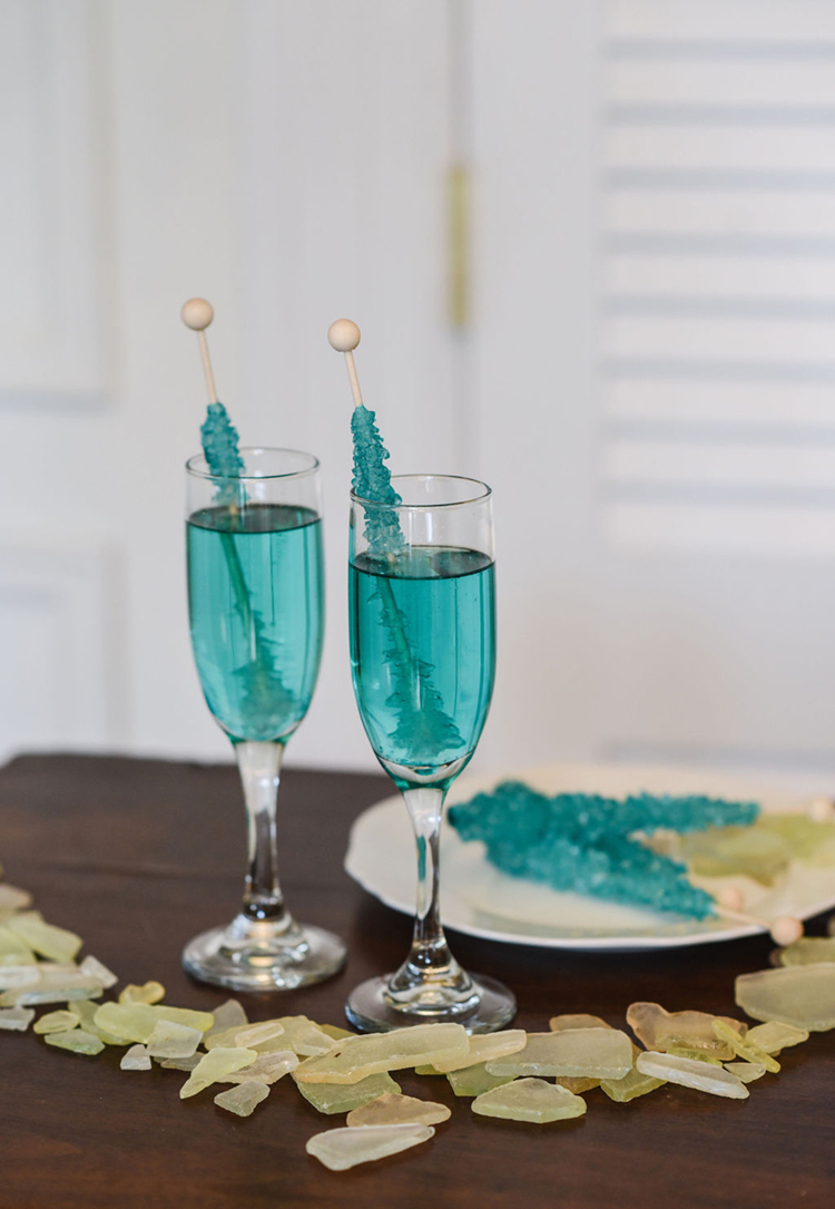 Wedding Specialty Cocktails with Rock Candy Sticks   photo by Radiant Photography by Sydney Danielle