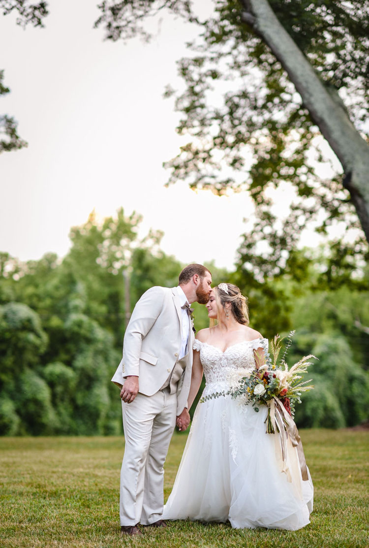 Fall Wedding Colors   Bride with Fall Bouquet   Carolina Elopement with Dalmatians   photo by Radiant Photography by Sydney Danielle