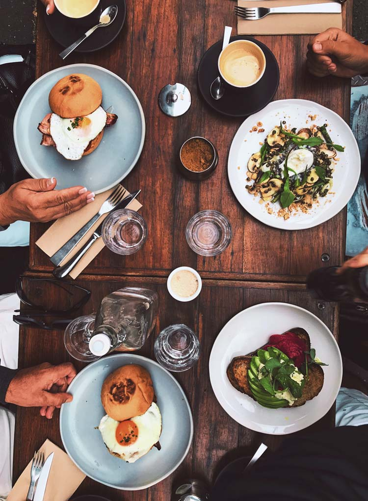Overhead Breakfast Shot | photo by Matheus Frade | featured on I Do Y'all for Dine Like a Local with Visit Ridgeland