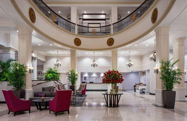 Elegant & Classy Lobby of King Edward Hotel, a Historic Venue in Jackson, MS