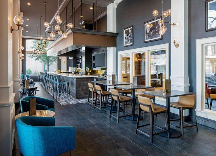Mid-Century Modern Bar & Grille Restaurant inside King Edward Hotel in Jackson, MS | Ideal for Wedding Room Blocks