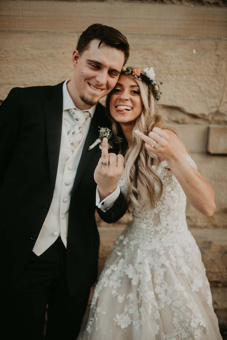 Bride & Groom Flashing Ring Finger Silly   photo by Devon Divine   featured on I Do Y'all