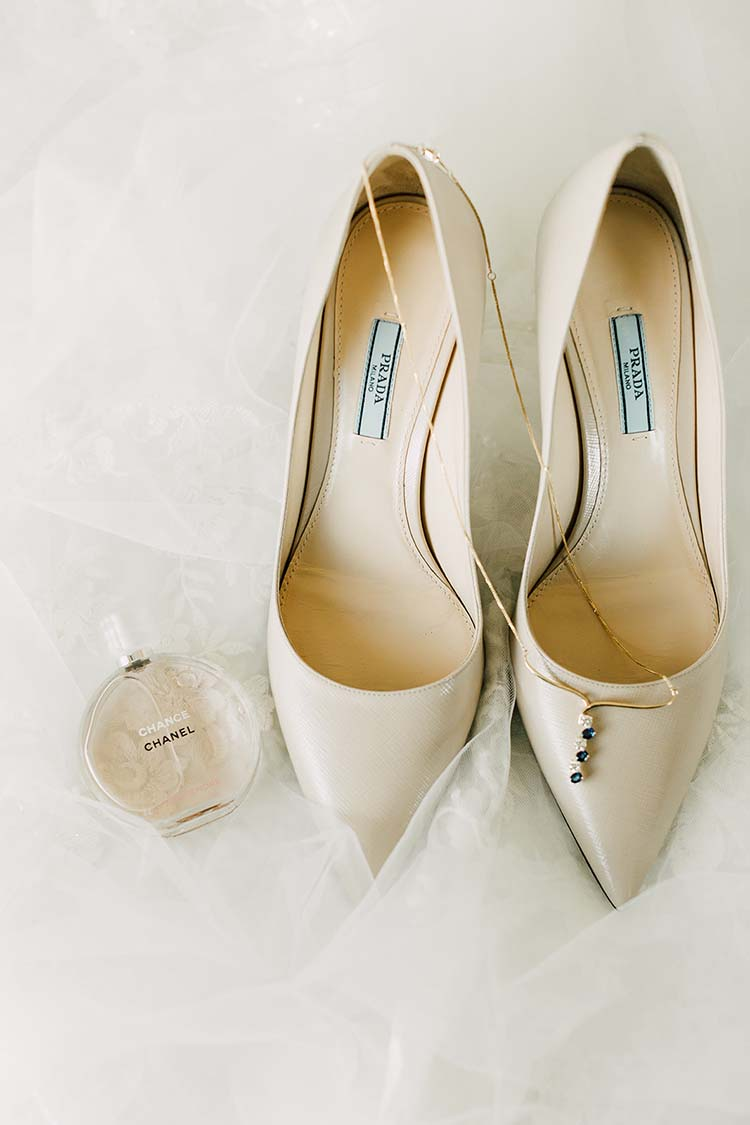 Prada Wedding Heels with Chanel Perfume | photo by Madison Hope Photography | featured on I Do Y'all