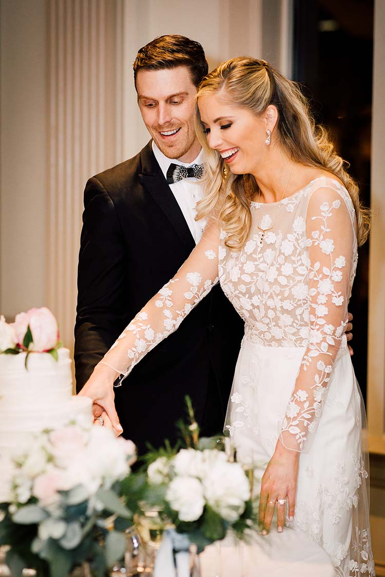 Floral Long Sleeve Bridal Jumpsuit | photo by Madison Hope Photography | featured on I Do Y'all