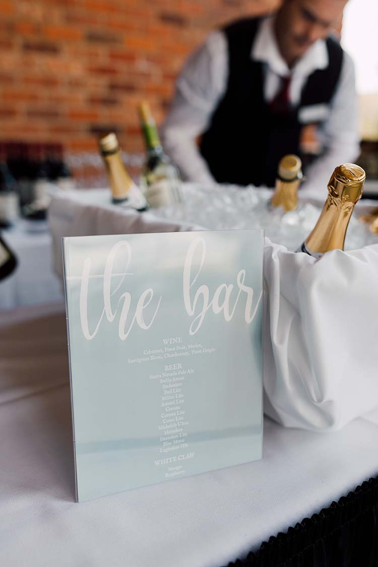 Blue Classic Bar Sign | photo by Madison Hope Photography | featured on I Do Y'all