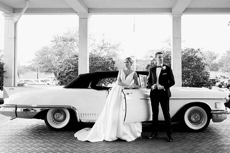 Bride & Groom with Classic Car | photo by Madison Hope Photography | featured on I Do Y'all