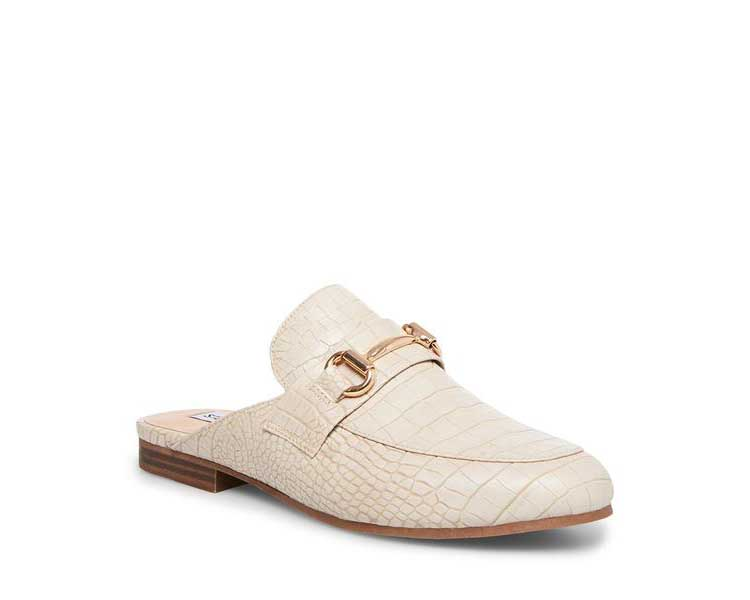 Cream Crocodile Loafers from Steve Madden for Wedding Shoes