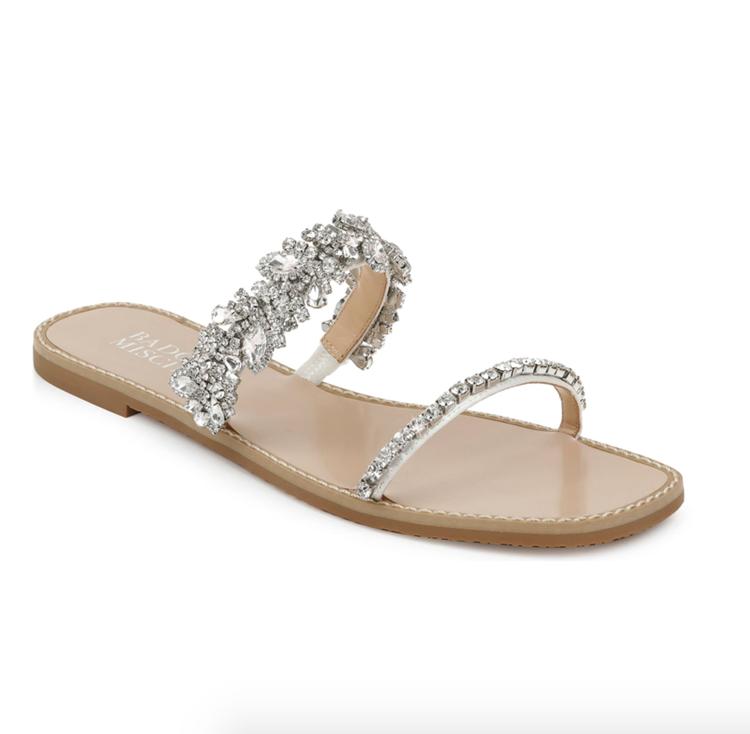 Chic Wedding Sandals from Badgley Mischka via Nordstrom | Wedding Shoes That Aren't 6 Inch Heels