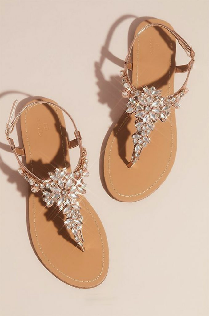 Wedding Sandals from David's Bridal
