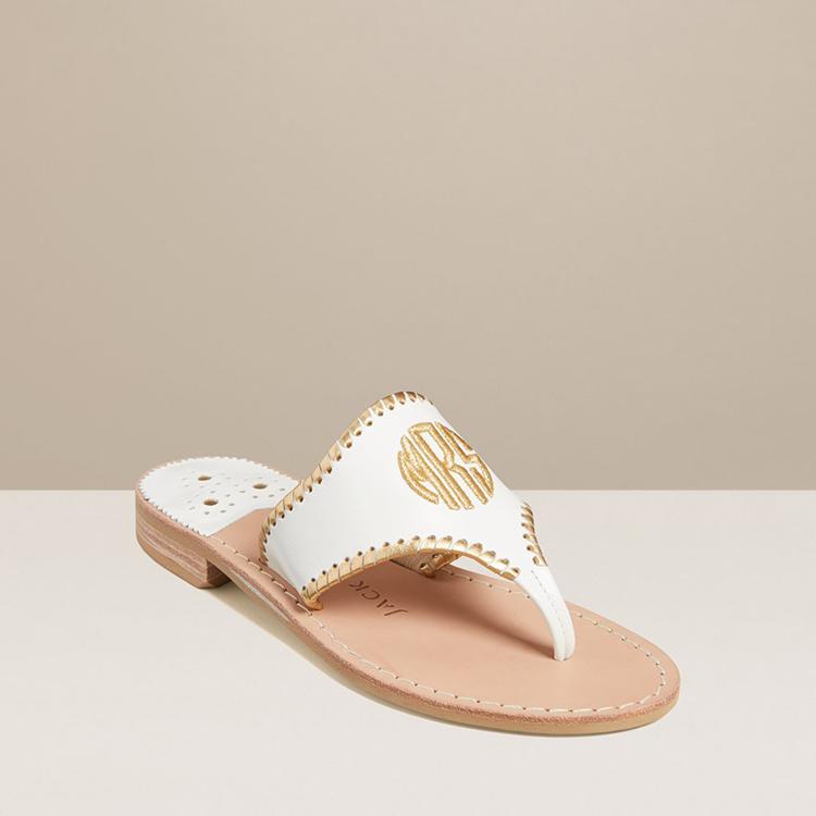 Custom Mrs. Jack Rodger Sandals for Wedding