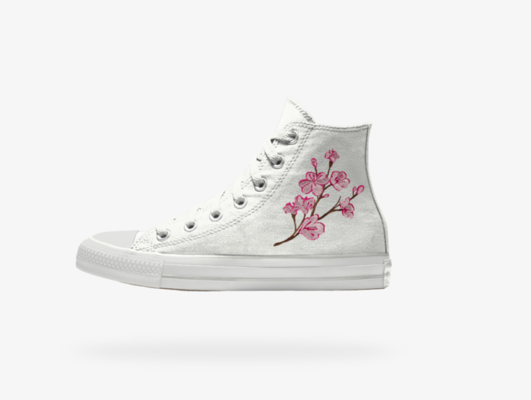 Custom White Converse for Wedding | Wedding Shoes That Aren't 6 Inch Heels