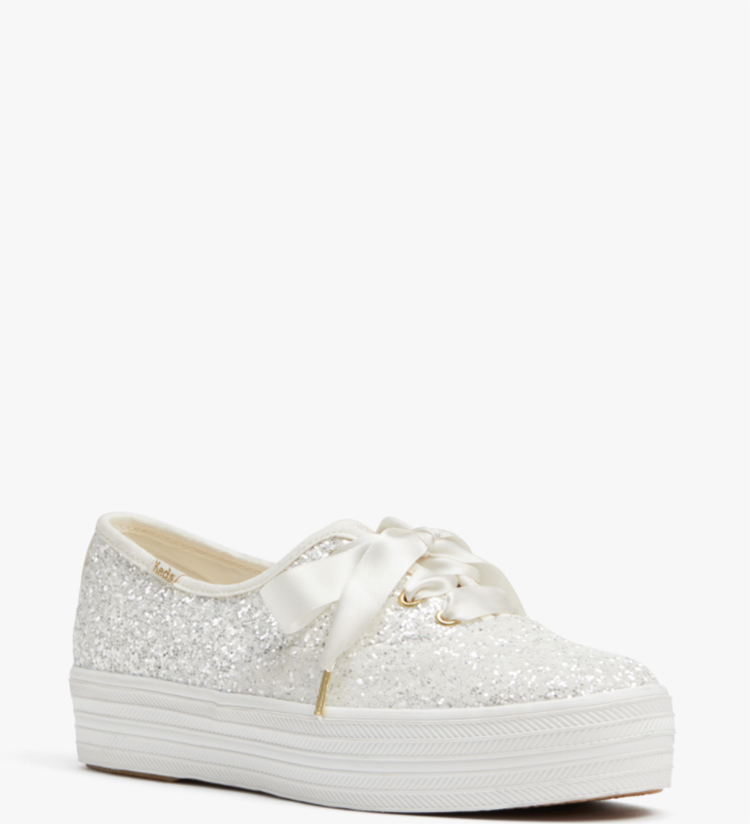 Sparkly Keds x Kate Spade Wedding Tennis Shoes | Wedding Shoes That Aren't 6 Inch Heels