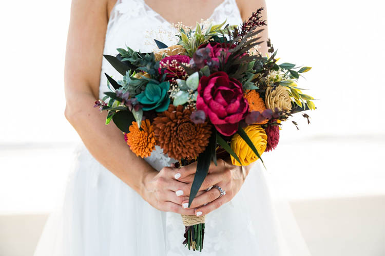 Vibrant Fall Wedding Bouquet | photo by  Dreamscape Photography, LLC