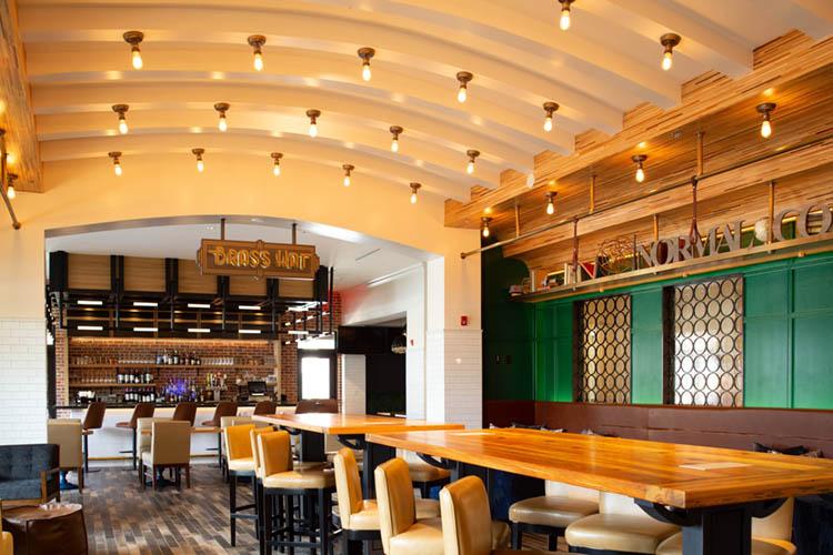 Modern Industrial Decor at Brass Hat in Hotel Indigo Hattiesburg