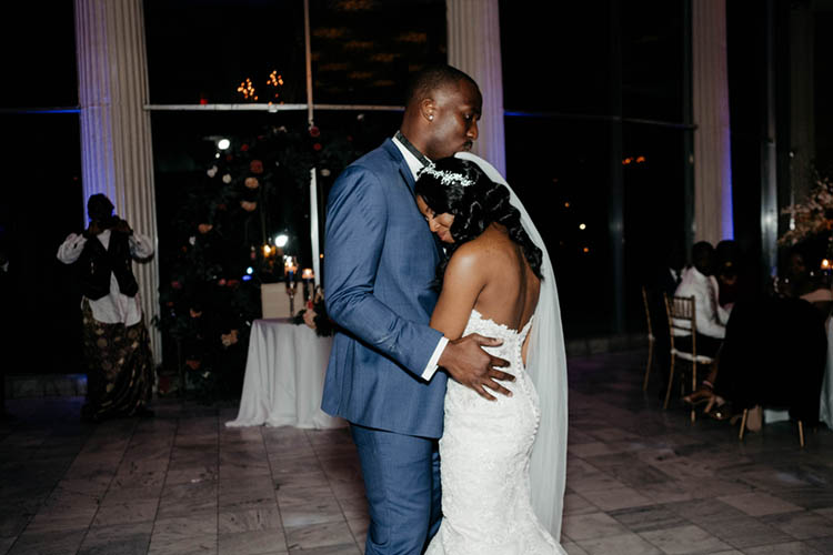 First Dance at Glamorous Wedding | photo by The Portos