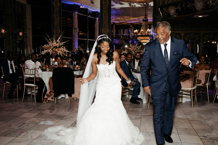 Father Daughter Dance at Glamorous Wedding | photo by The Portos