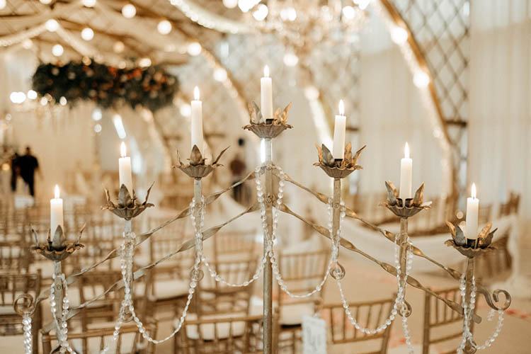 Vintage Inspired Candelabra for Wedding Ceremony | photo by The Portos