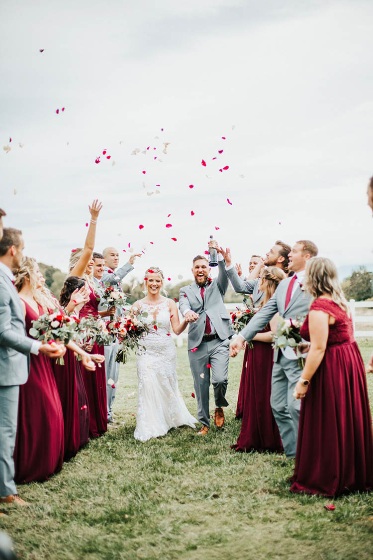 Rose Petal Toss Ceremony Exit | photo by Jessica Lee Photographic Art