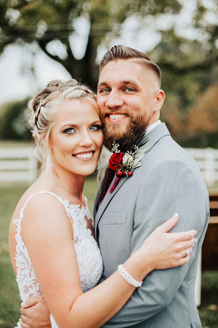 Gorgeous Burgundy & Pink Fall Wedding | photo by Jessica Lee Photographic Art