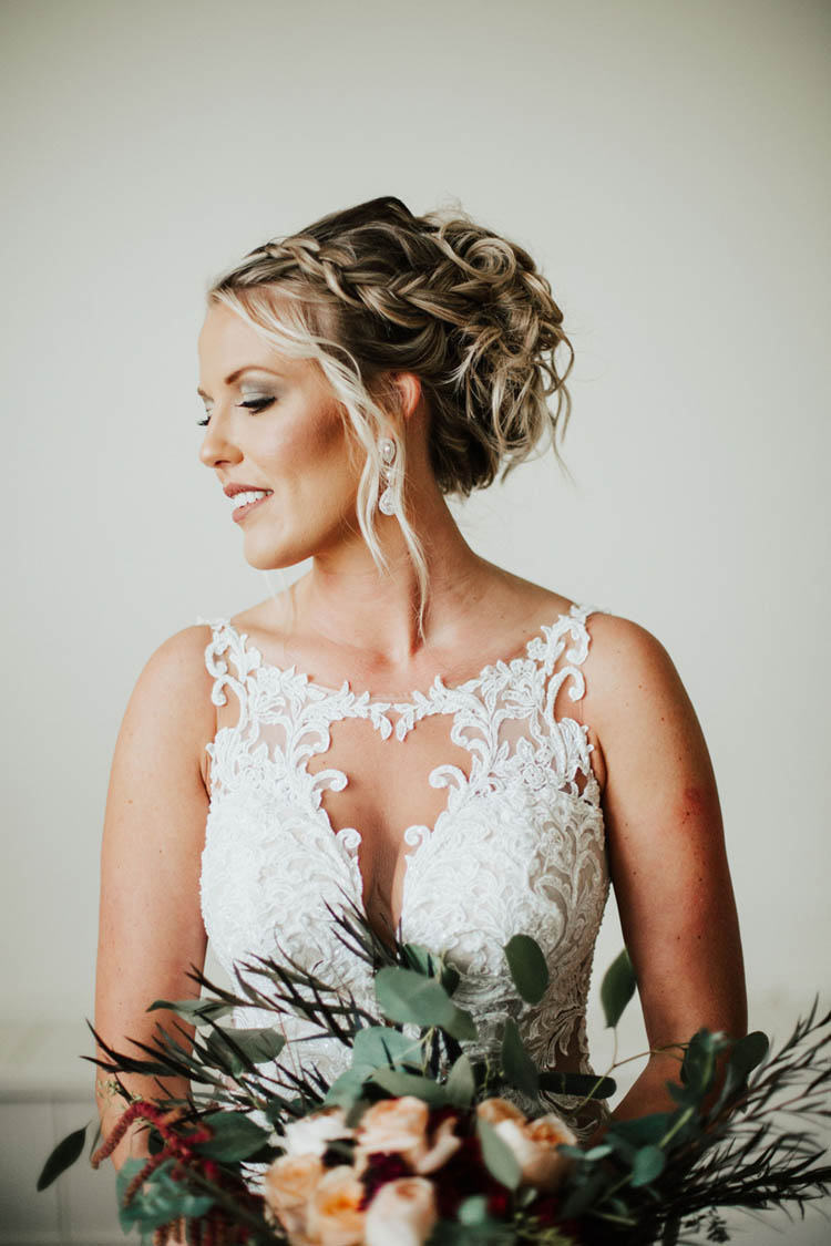 Bridal Updo with Braid and Waves | photo by Jessica Lee Photographic Art