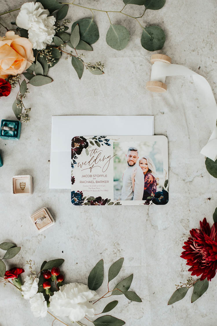Floral Wedding Invitations | photo by Jessica Lee Photographic Art