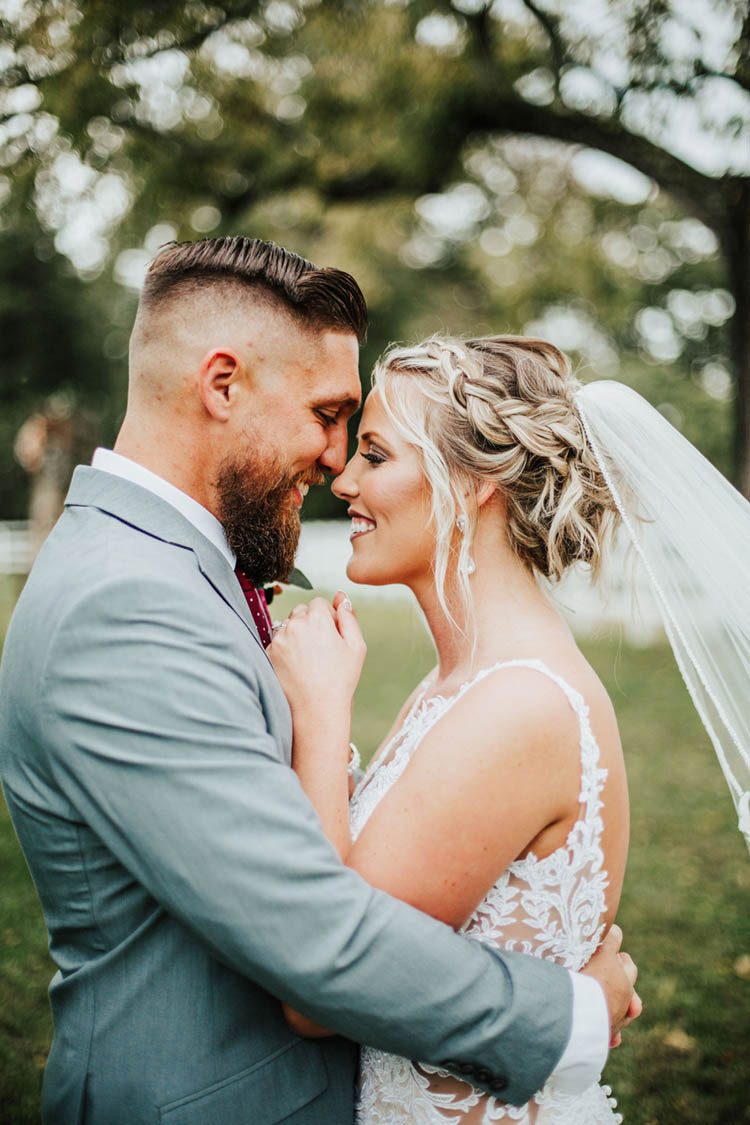 Bride & Groom Forehead to Forehead | photo by Jessica Lee Photographic Art