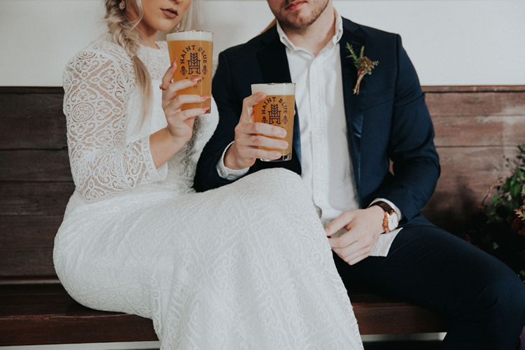 Moody Brewery Elopement Inspiration with Haint Blue | photo by Deltalow