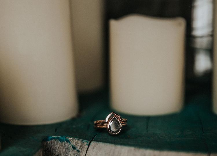 Unique Boho Engagement Ring | photo by Deltalow