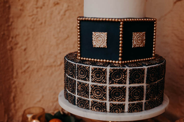 Moroccan Inspired Wedding Cake | photo by Boote Photography Studio