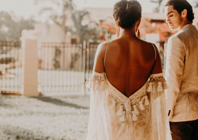 Open Back Wedding Dress with Tassels | photo by Boote Photography Studio