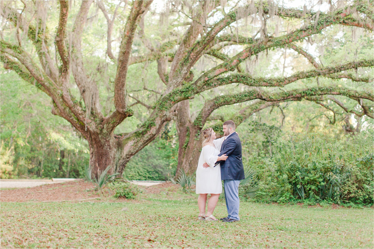 Engagement Photo Under the Oak Trees | photo by Anna Filly Photography